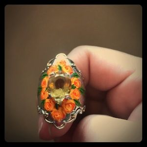 Gems en vogue elongated citrine ring